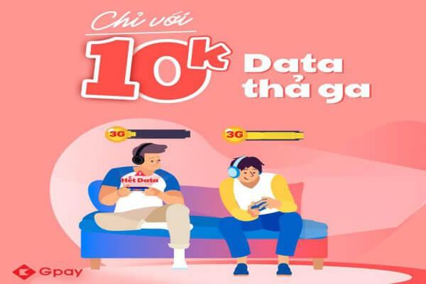 Hướng dẫn mua thẻ data trên ứng dụng Gpay